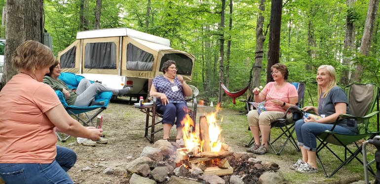 Camping with the Girl Campers – That's What She Shed